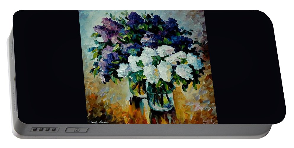 Painting Portable Battery Charger featuring the painting Two Spring Colors by Leonid Afremov