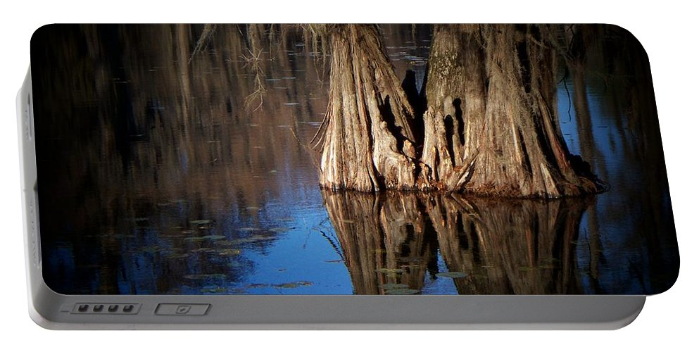 Caddo Portable Battery Charger featuring the photograph Two Together by Betty Northcutt