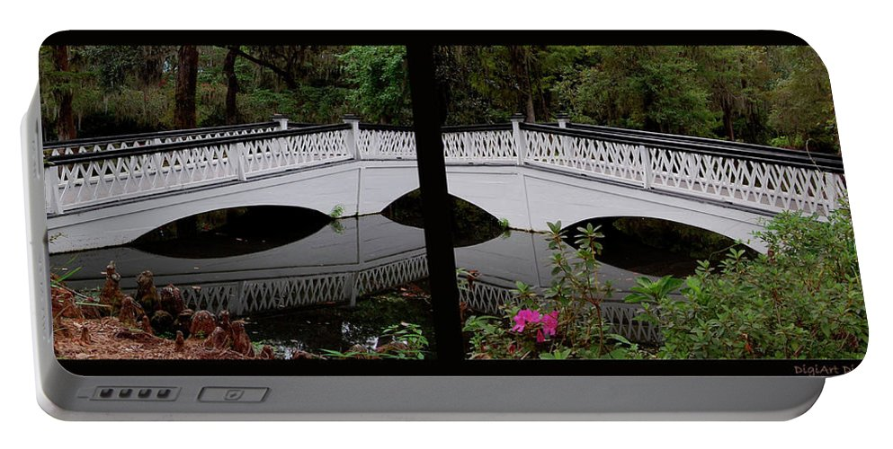 Bridges Portable Battery Charger featuring the digital art Two Viewpoints by DigiArt Diaries by Vicky B Fuller