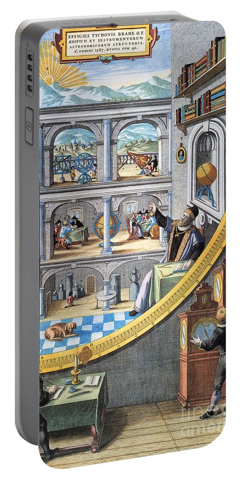 16th Century Portable Battery Charger featuring the photograph Tycho Brahe (1546-1601) by Granger