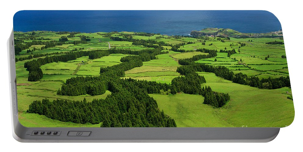 Landscape Portable Battery Charger featuring the photograph Typical Azores islands landscape by Gaspar Avila