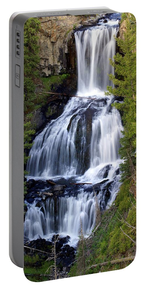 Udine Falls Portable Battery Charger featuring the photograph Udine Falls by Marty Koch