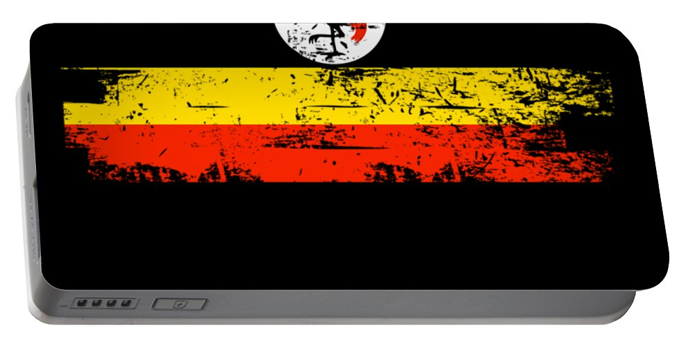 Patriotic Portable Battery Charger featuring the digital art Uganda Shirt Gift Country Flag Patriotic Travel Africa Light by J P