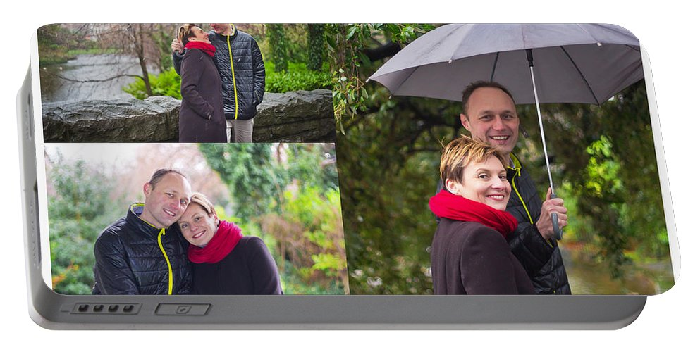 Engagement Portable Battery Charger featuring the photograph Ula And Wojtek Engagement 1 by Alex Art and Photo