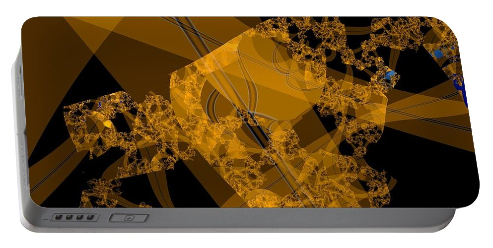 Fractal Image Portable Battery Charger featuring the digital art Umber by Ron Bissett
