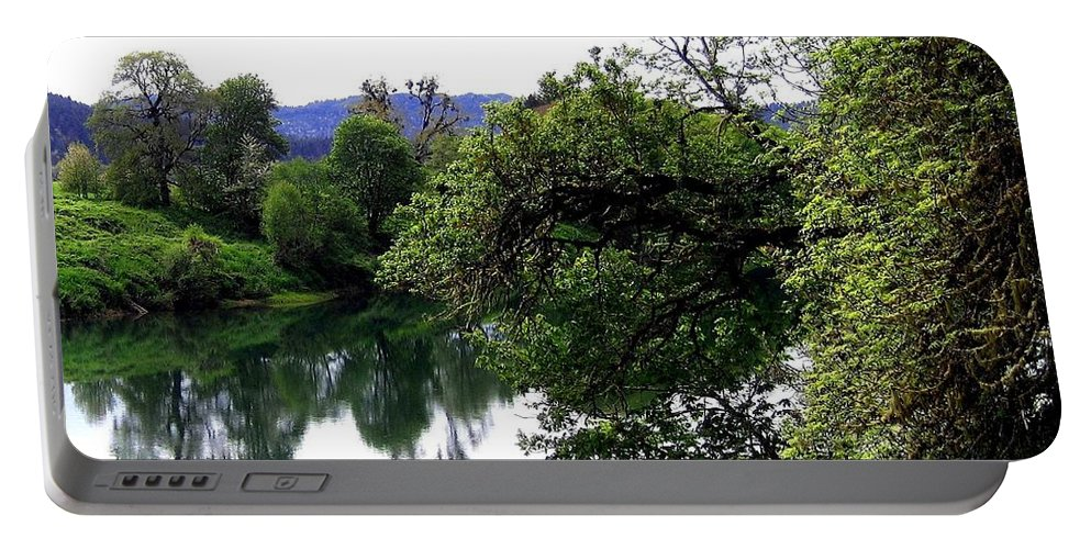 Umpqua River Portable Battery Charger featuring the photograph Umpqua River by Will Borden