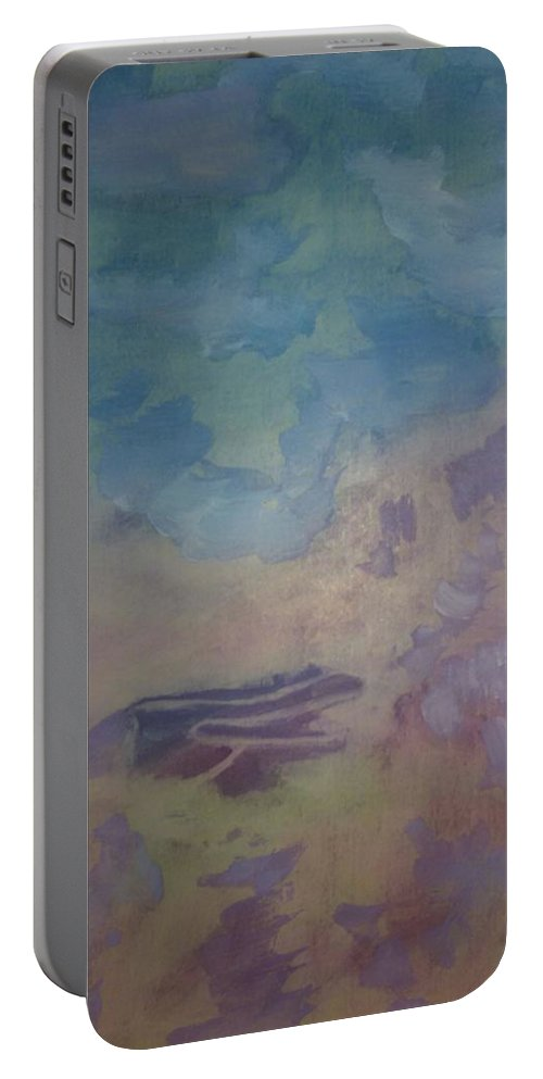 Abstract Mood Portable Battery Charger featuring the painting Uncertainty by Madina Kanunova