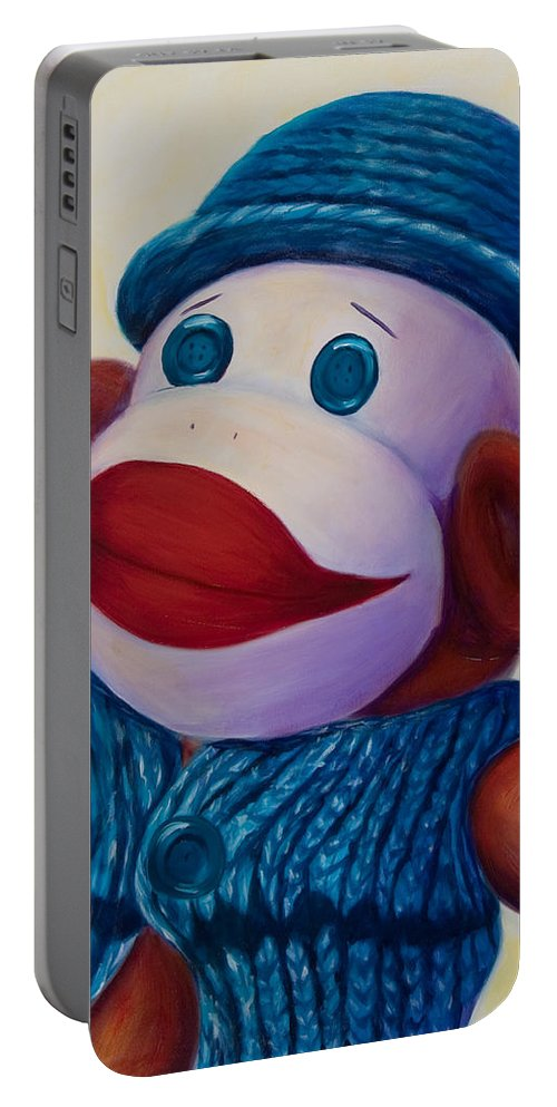Children Portable Battery Charger featuring the painting Uncle Frank by Shannon Grissom