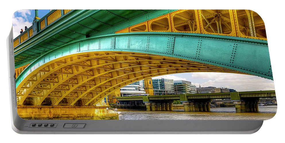 Hdr Portable Battery Charger featuring the photograph Under A Brigde by Svetlana Sewell
