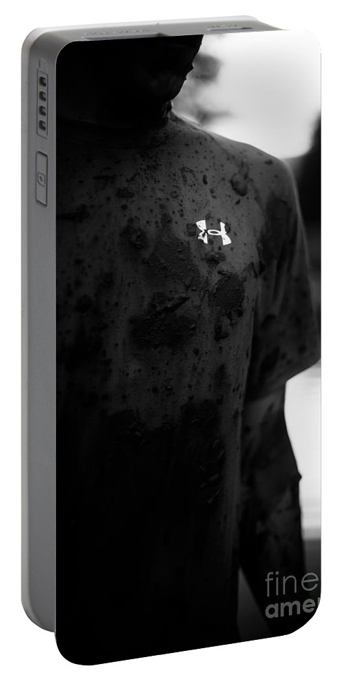 Underarmor Portable Battery Charger featuring the photograph Under Armour Black And White by Scott Sawyer