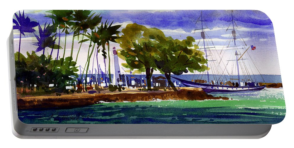 Maui Portable Battery Charger featuring the painting Under Maui Skies by Lee Klingenberg