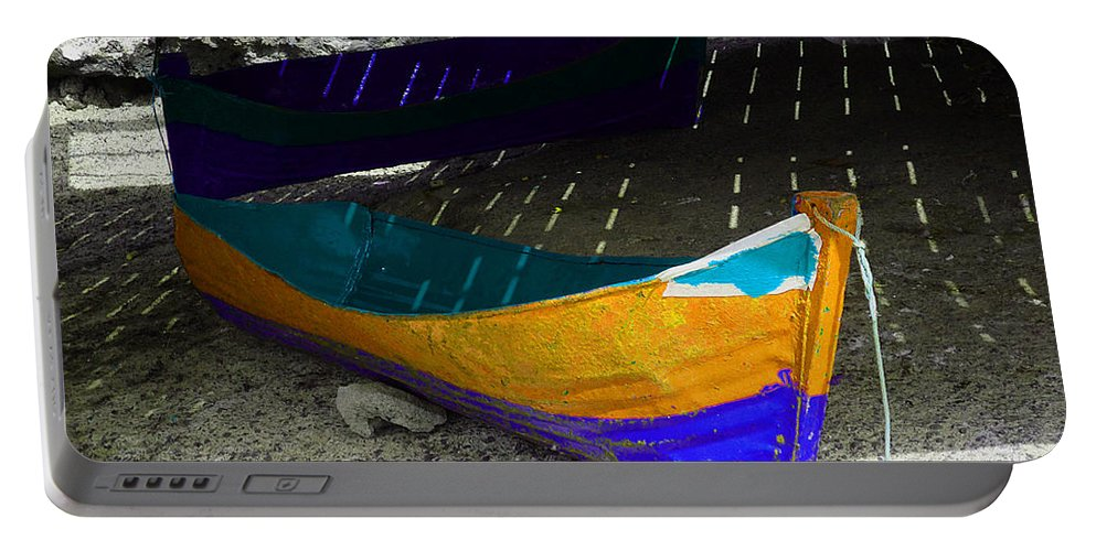 Boat Portable Battery Charger featuring the photograph Under The Boardwalk 2 by Charles Stuart