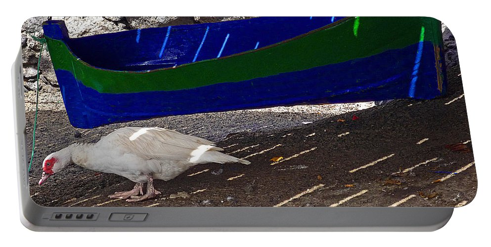 Boat Portable Battery Charger featuring the photograph Under The Boardwalk 3 by Charles Stuart