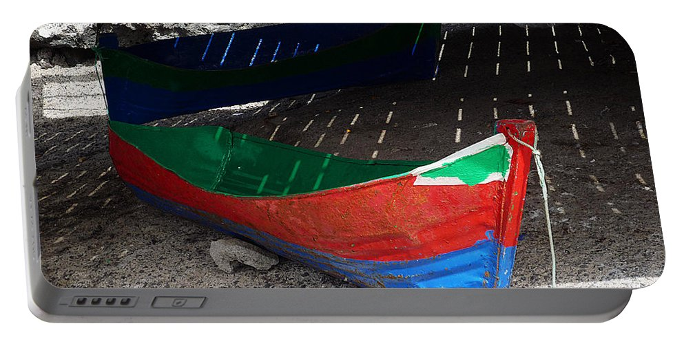 Boat Portable Battery Charger featuring the photograph Under The Boardwalk by Charles Stuart