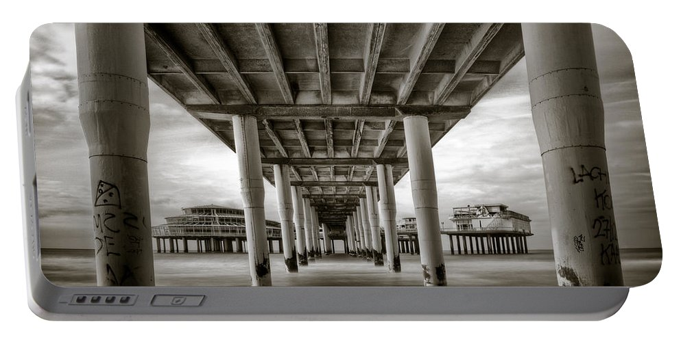 Pier Portable Battery Charger featuring the photograph Under The Boardwalk by Dave Bowman