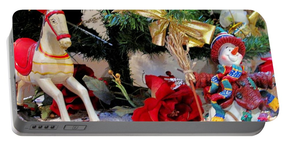 Christmas Portable Battery Charger featuring the photograph Under The Christmas Tree by Ian MacDonald
