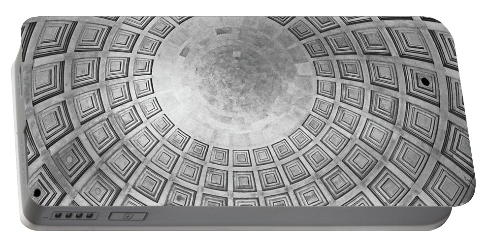 Place Portable Battery Charger featuring the photograph Under The Dome At The Jefferson Memorial by Tom Gari Gallery-Three-Photography