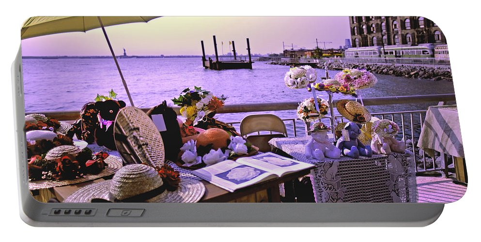Red Hook Portable Battery Charger featuring the photograph Under The Hat by Madeline Ellis