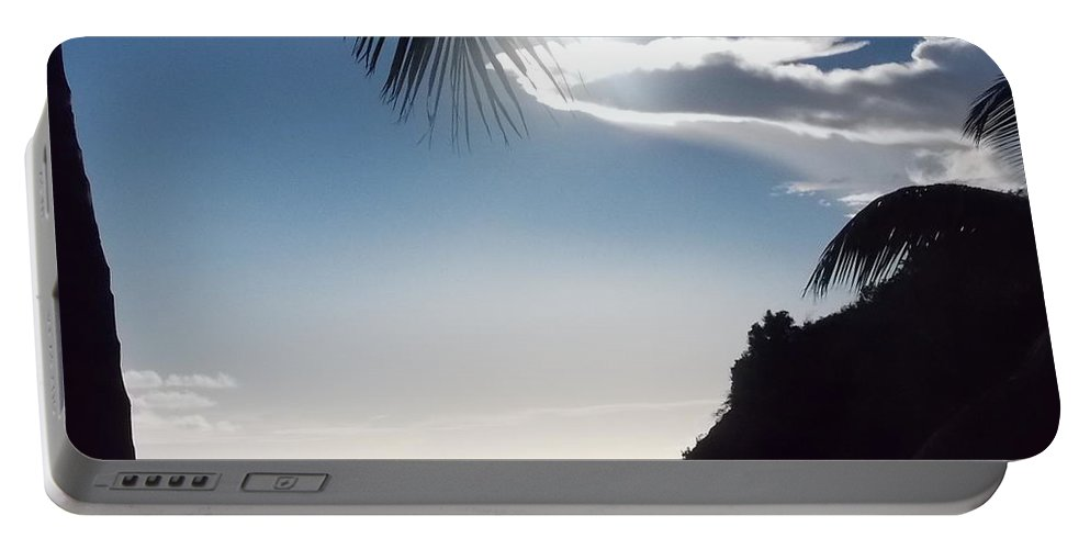 Palm Tree Portable Battery Charger featuring the photograph Under The Palm Tree by Kathleen Moore Lutz
