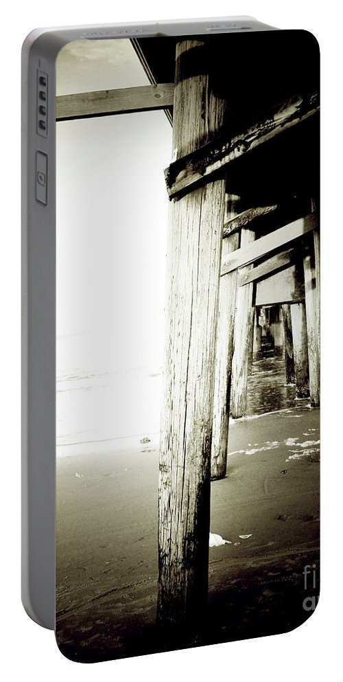 Florida Portable Battery Charger featuring the photograph Under The Pier Extreme by Chris Andruskiewicz