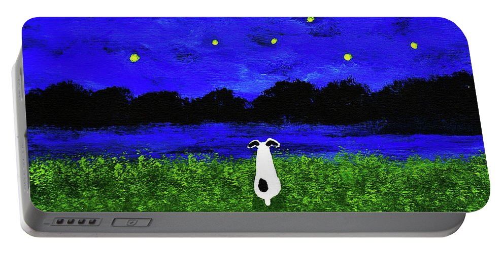 Rat Portable Battery Charger featuring the painting Under The Stars by Todd Young