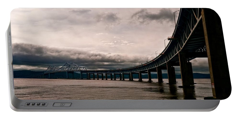 New York Portable Battery Charger featuring the photograph Under The Tappan Zee by S Paul Sahm