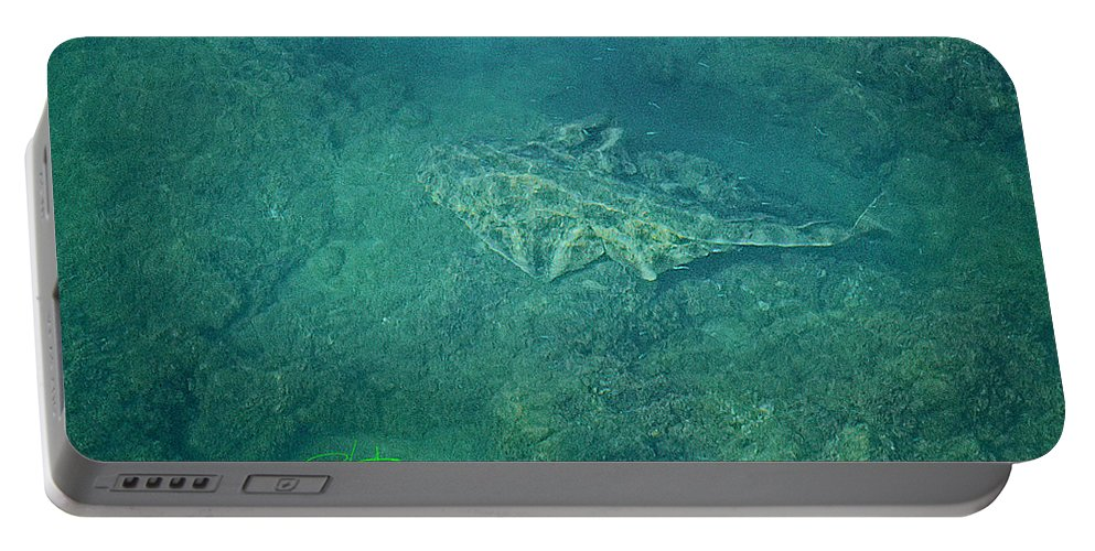 Ocean Portable Battery Charger featuring the photograph Under Water View by Charles Stuart