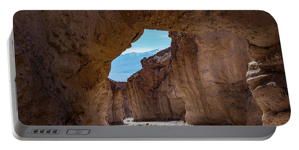Death Valley Ca Portable Battery Charger featuring the photograph Underneath Natural Bridge by Michael Bessler