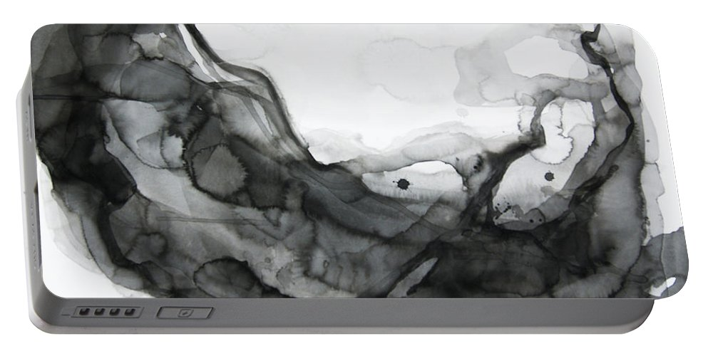 Ocean Current Portable Battery Charger featuring the painting Undertows by Victoria Kloch