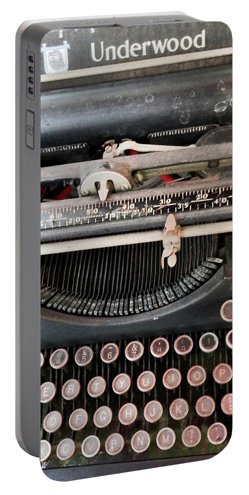 Norwich Portable Battery Charger featuring the photograph Underwood Typewriter by Rob Murphy