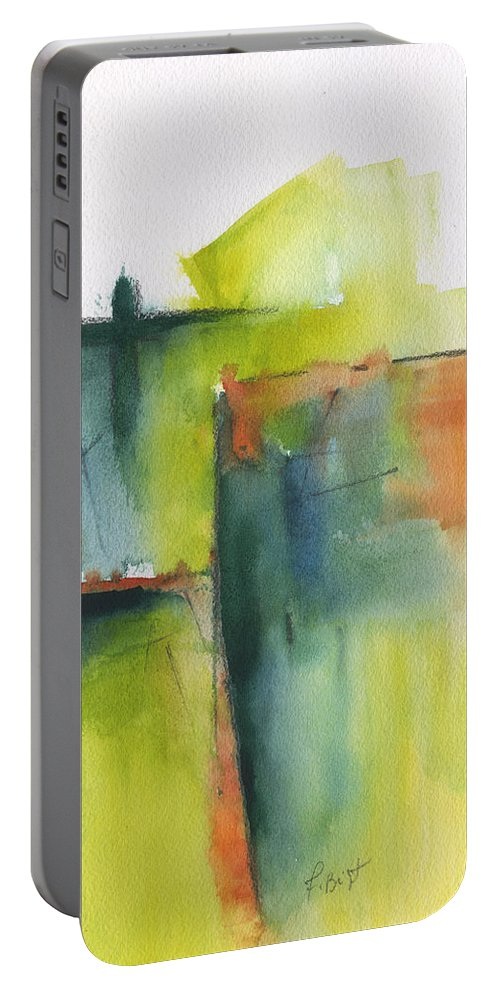 Beginnings Portable Battery Charger featuring the painting Beginnings by Frank Bright