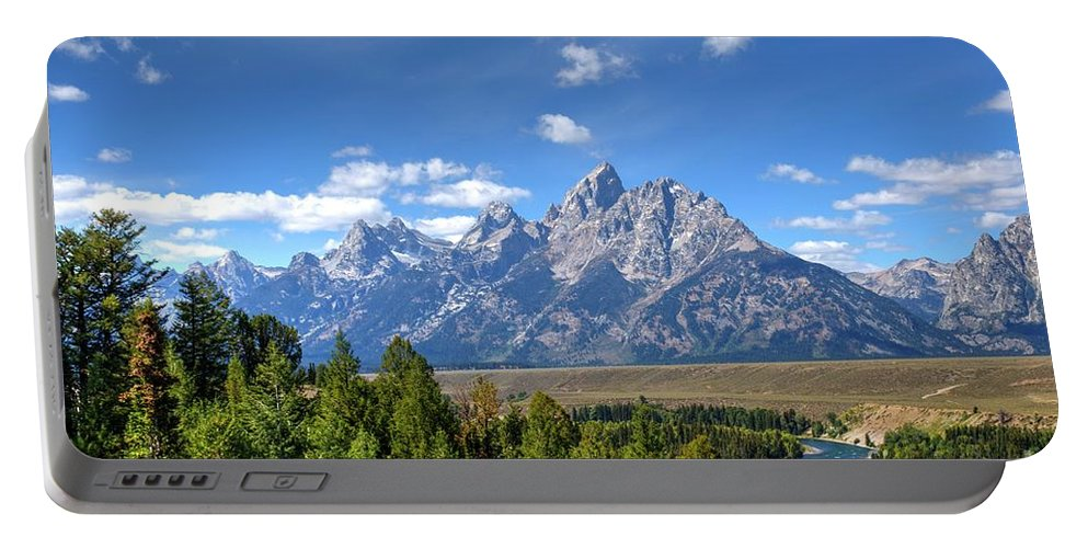 Tetons Portable Battery Charger featuring the photograph Unforgetable by Dennis Blum