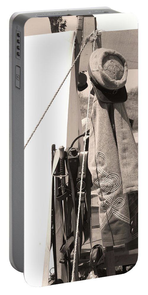 Civil War Portable Battery Charger featuring the photograph Uniform by Tommy Anderson