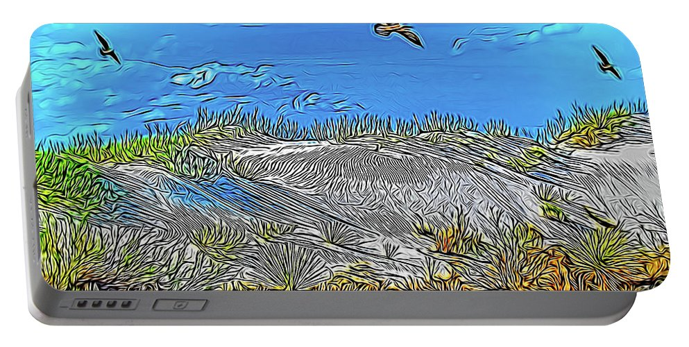 Beach Portable Battery Charger featuring the photograph Uninhabited Beach by Jennifer Stackpole