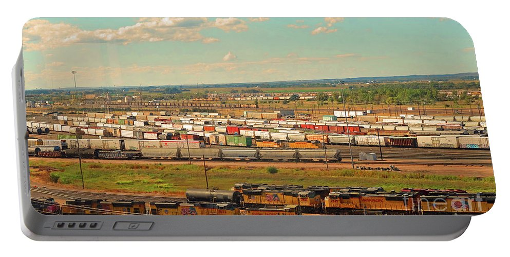 Trains Portable Battery Charger featuring the photograph Union Pacific's Bailey Yard by Eunice Warfel