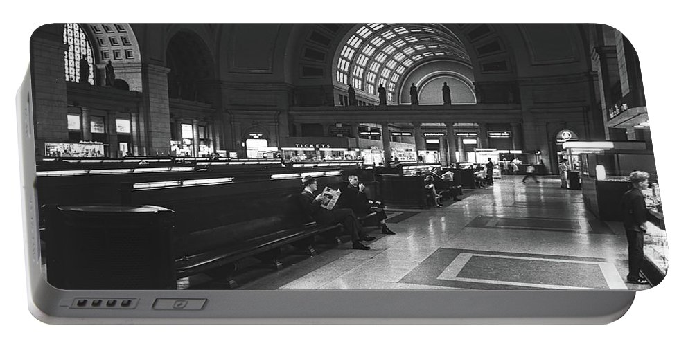 Union Station Portable Battery Charger featuring the photograph Union Station, Washington Dc 1963 by Library Of Congress