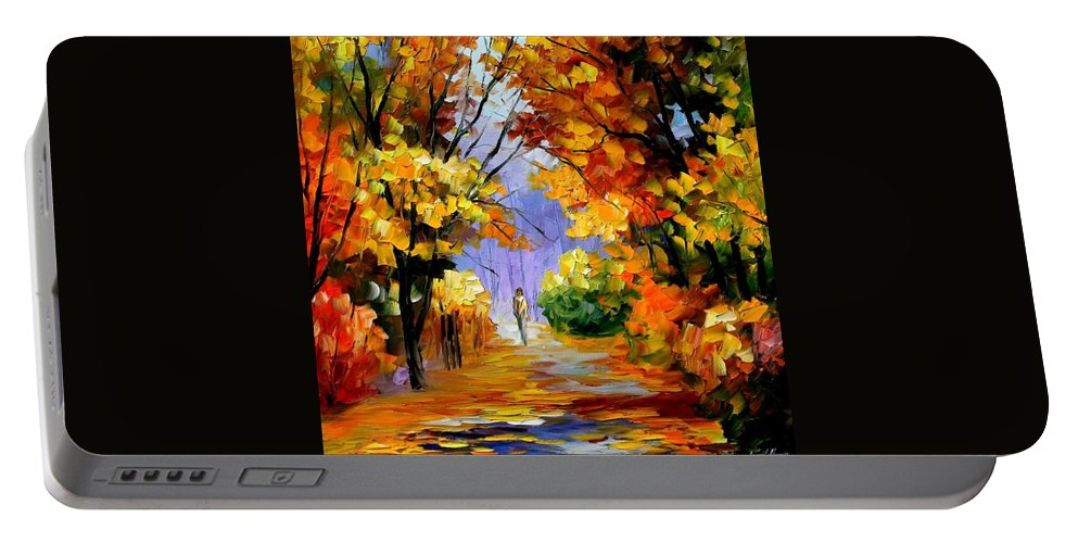 Afremov Portable Battery Charger featuring the painting Unity With Nature by Leonid Afremov