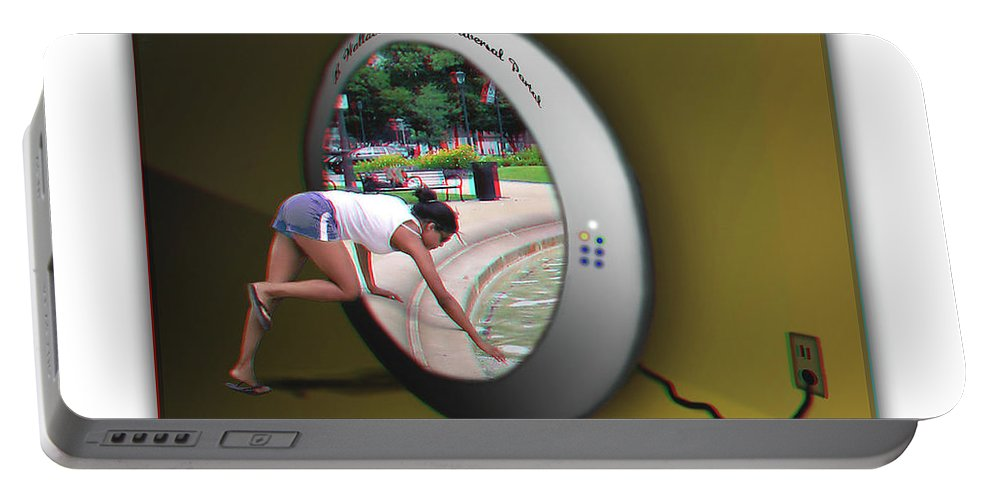 3d Portable Battery Charger featuring the photograph Universal Portal - Use Red-cyan 3d Glasses by Brian Wallace