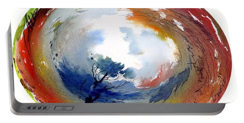Landscape Water Color Watercolor Digital Mixed Media Portable Battery Charger featuring the painting Universe by Anil Nene