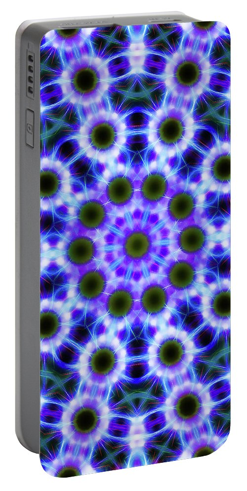 Mandala Art Portable Battery Charger featuring the painting Universe by Jeelan Clark