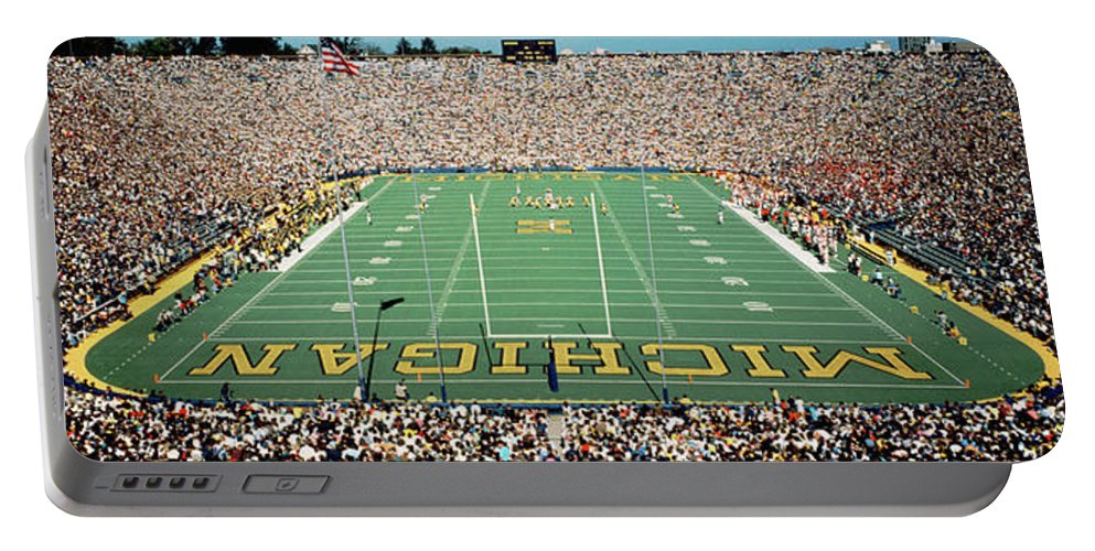 Photography Portable Battery Charger featuring the photograph University Of Michigan Stadium, Ann by Panoramic Images