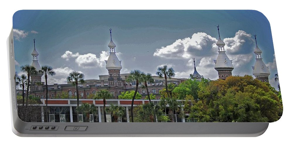 University Of Tampa Portable Battery Charger featuring the photograph University Of Tampa by Jost Houk