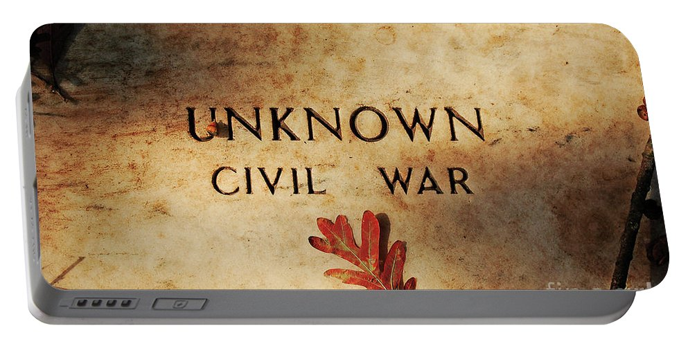 Memorial Portable Battery Charger featuring the photograph Unknown Civil War by Kathleen K Parker
