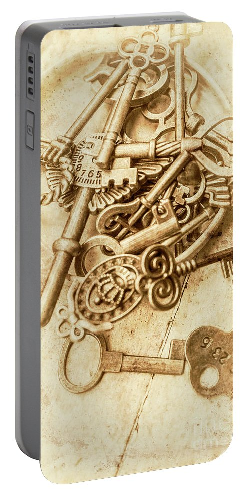 Antique Portable Battery Charger featuring the photograph Unlocking The Past by Jorgo Photography - Wall Art Gallery