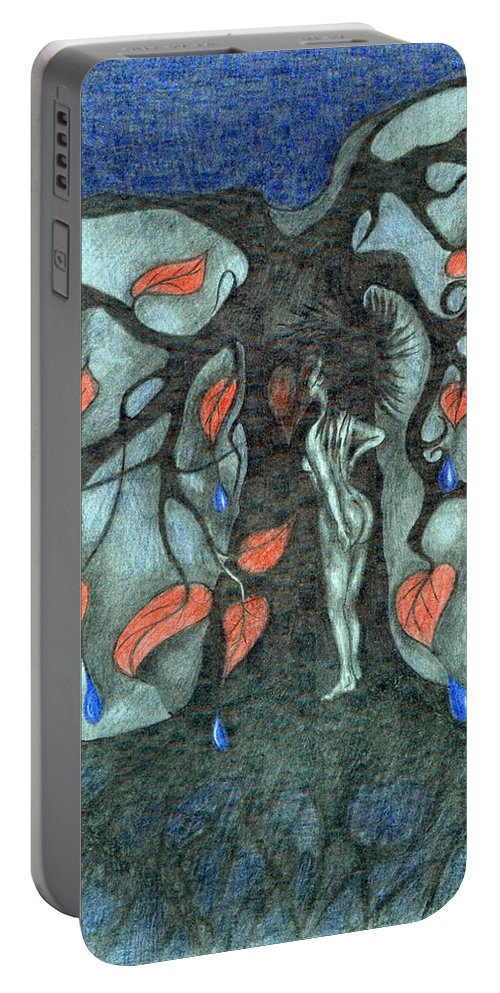 Energy Portable Battery Charger featuring the painting Unmarried Woman by Wojtek Kowalski