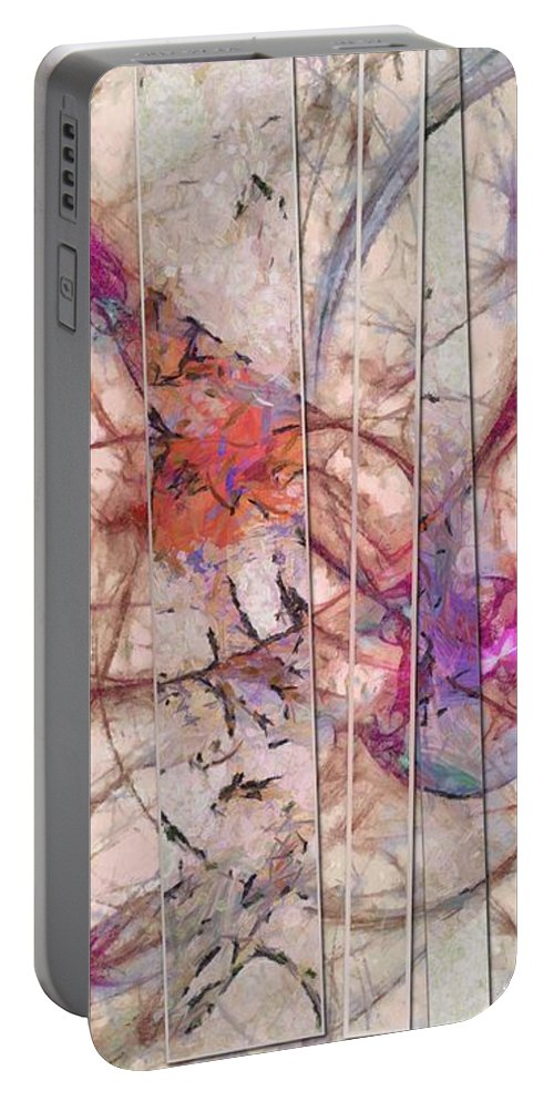 Visionary Portable Battery Charger featuring the painting Unpersonalised Barren Id 16098-001022-37631 by S Lurk