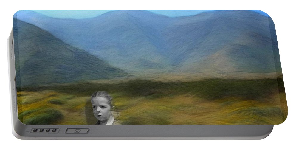 Desert Portable Battery Charger featuring the digital art Unresolved by Snake Jagger