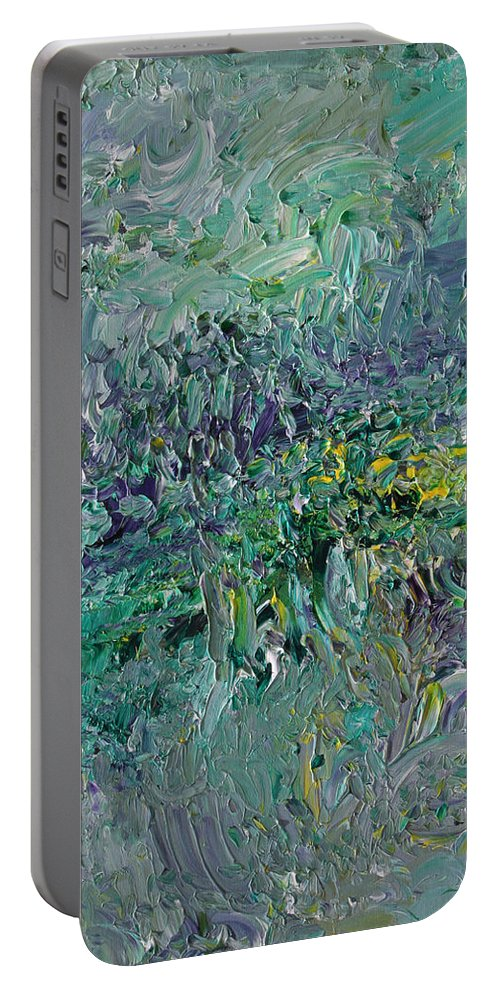 Fusionart Portable Battery Charger featuring the painting Blind Giverny by Ralph White