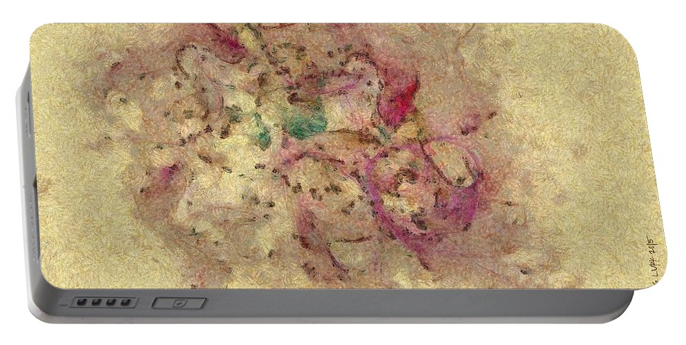 Ndr099 Portable Battery Charger featuring the painting Unspanked Taste Id 16098-045229-08770 by S Lurk