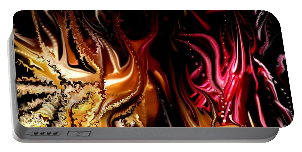 Abstract Portable Battery Charger featuring the digital art Until The End by David Lane